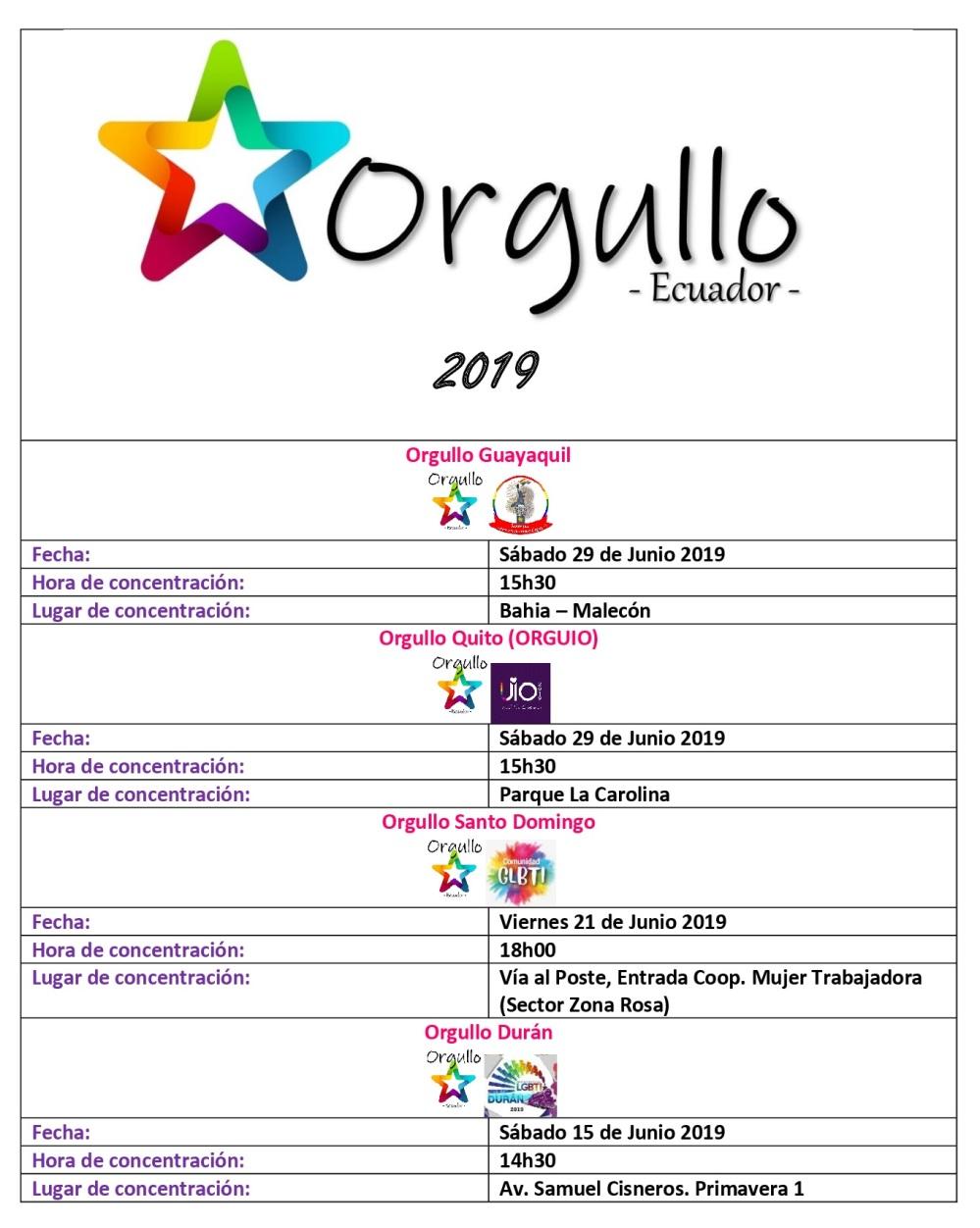 Orgullo-Ecuador-2019-cronograma nacional