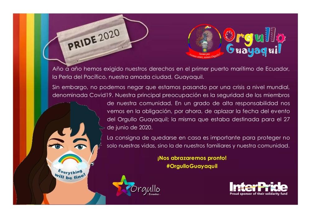Suspensión del Orgullo Guayaquil 2020